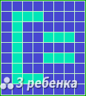 Схема фенечки прямым плетением 20247