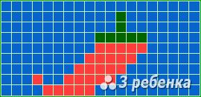 Схема фенечки прямым плетением 20319