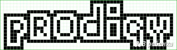 Схема фенечки прямым плетением 20198