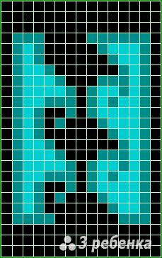 Схема фенечки прямым плетением 20293