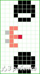 Схема фенечки прямым плетением 20263