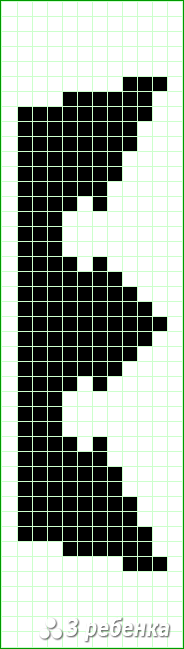 Схема фенечки прямым плетением 20952