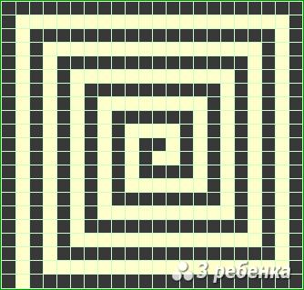 Схема фенечки прямым плетением 20242