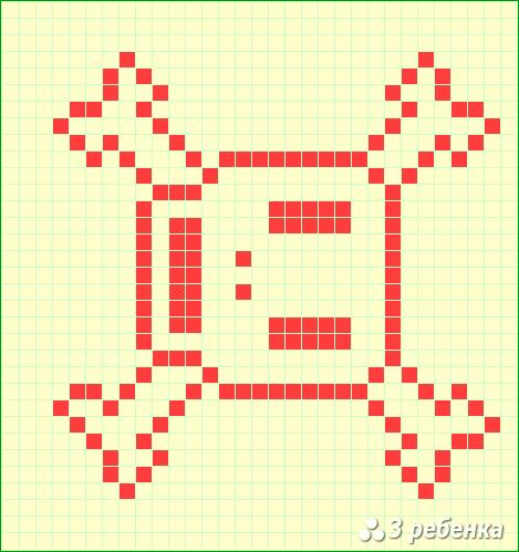 Схема фенечки прямым плетением 20288