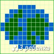 Схема фенечки прямым плетением 20309