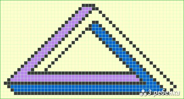 Схема фенечки прямым плетением 20314