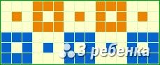 Схема фенечки прямым плетением 20354