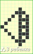 Схема фенечки прямым плетением 20379