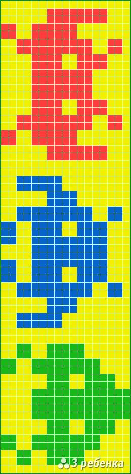 Схема фенечки прямым плетением 20932