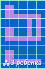 Схема фенечки прямым плетением 20252
