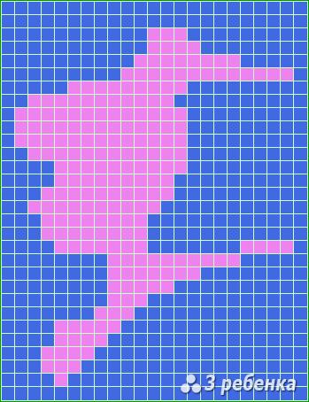 Схема фенечки прямым плетением 20278