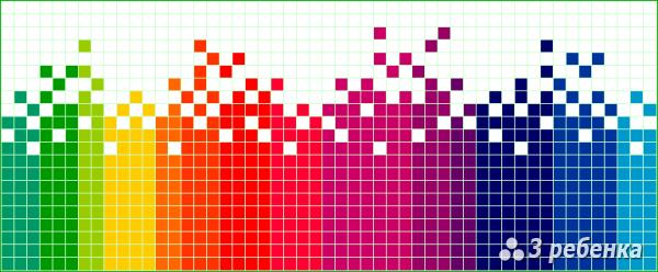 Схема фенечки прямым плетением 20891