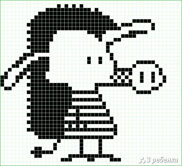 Схема фенечки прямым плетением 20268