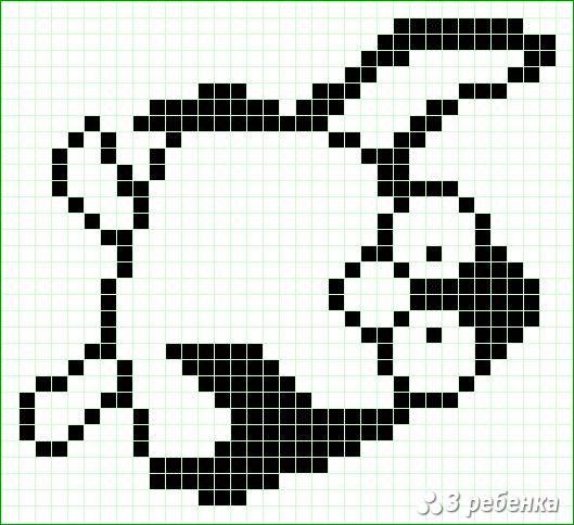 Схема фенечки прямым плетением 20215