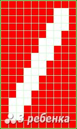 Схема фенечки прямым плетением 20911
