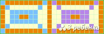 Схема фенечки прямым плетением 20349