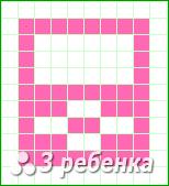 Схема фенечки прямым плетением 20957