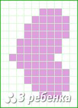 Схема фенечки прямым плетением 20374