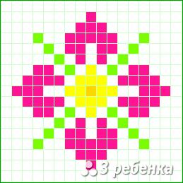 Схема фенечки прямым плетением 20947