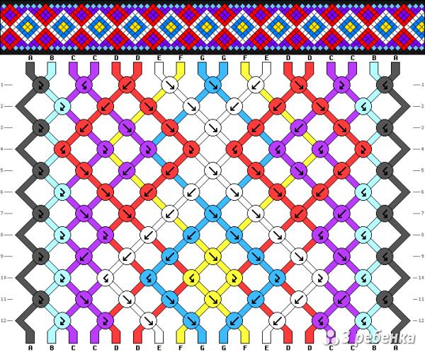 Схема фенечки 21251