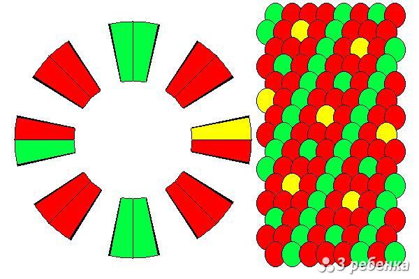 Схема фенечки кумихимо 21427