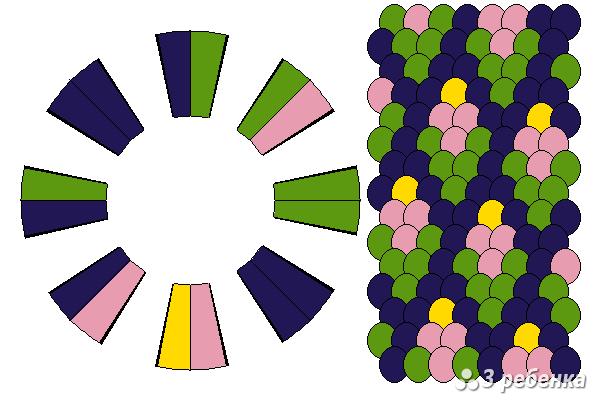 Схема фенечки кумихимо 21431