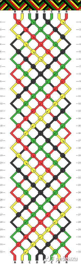 Схема фенечки 21296