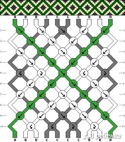 Схема фенечки 21324