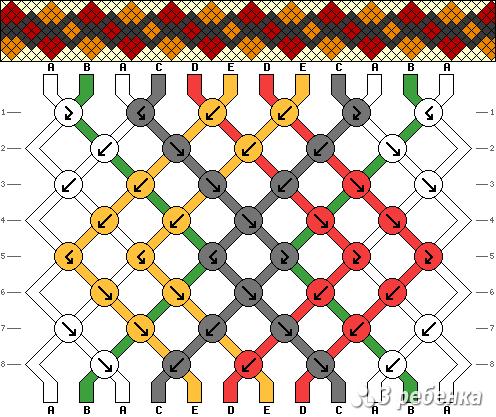 Схема фенечки 21268