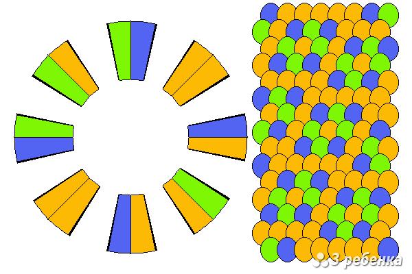 Схема фенечки кумихимо 21498