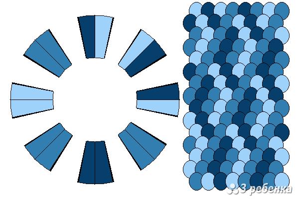 Схема фенечки кумихимо 21494