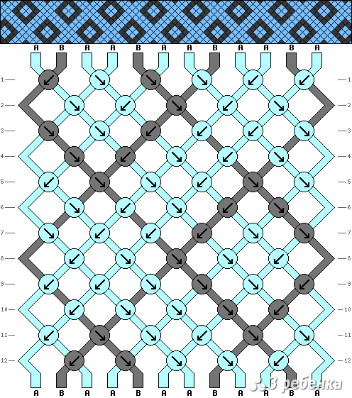 Схема фенечки 21316