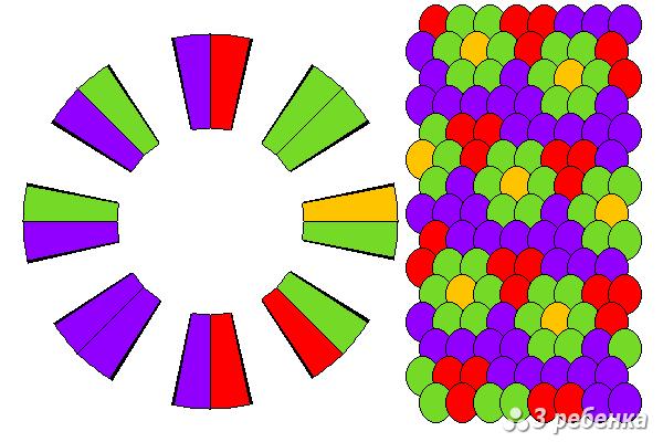 Схема фенечки кумихимо 21482