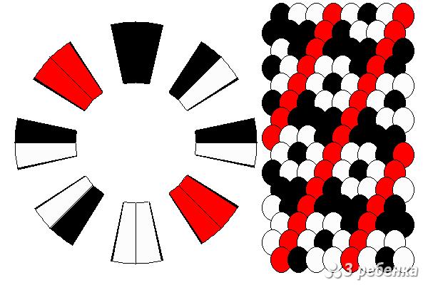 Схема фенечки кумихимо 21475
