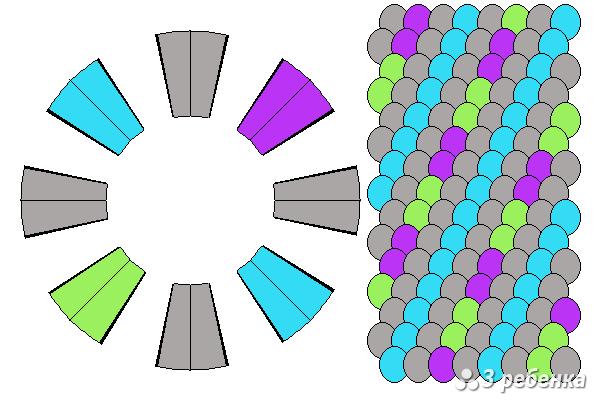 Схема фенечки кумихимо 21471