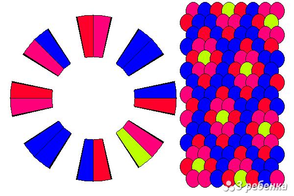 Схема фенечки кумихимо 21467