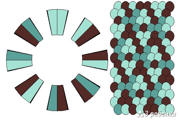 Схема фенечки кумихимо 21463