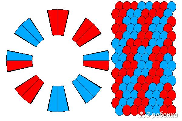 Схема фенечки кумихимо 21459