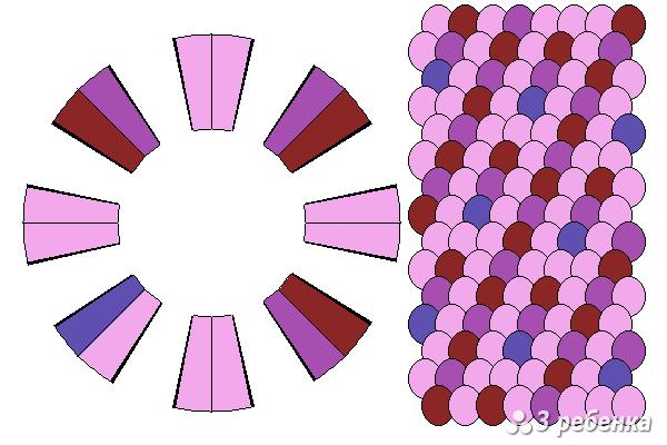 Схема фенечки кумихимо 21455