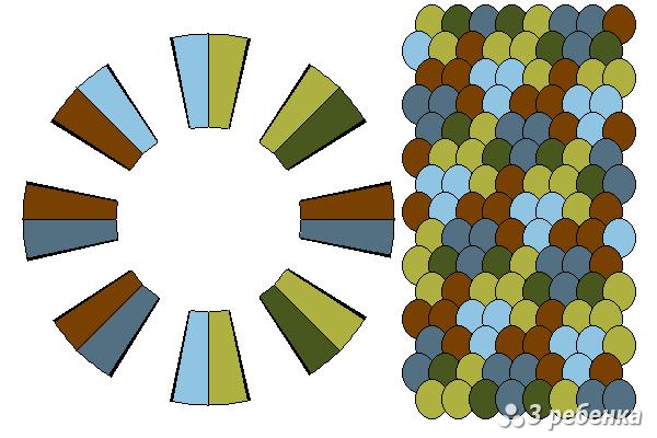 Схема фенечки кумихимо 21139