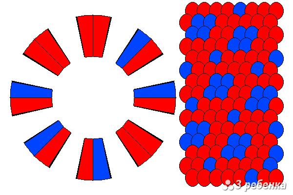 Схема фенечки кумихимо 21131