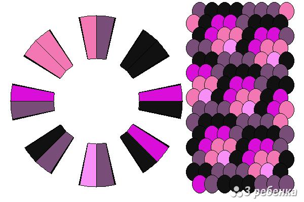 Схема фенечки кумихимо 21122