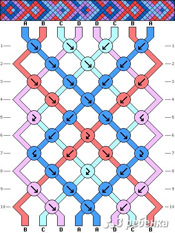 Схема фенечки 21343