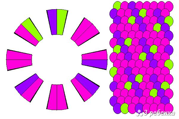 Схема фенечки кумихимо 21110