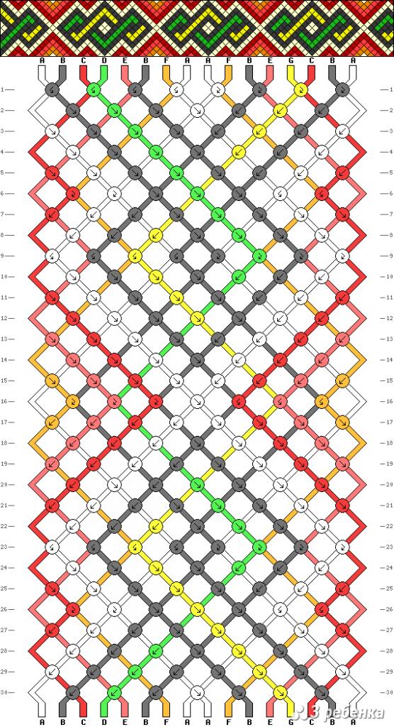 Схема фенечки 21334