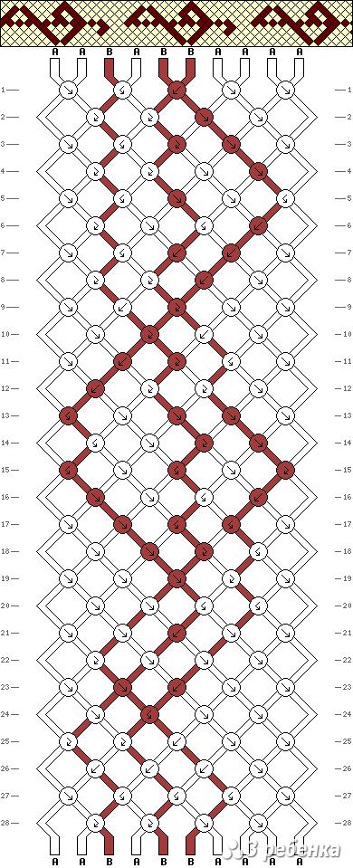 Схема фенечки 21244