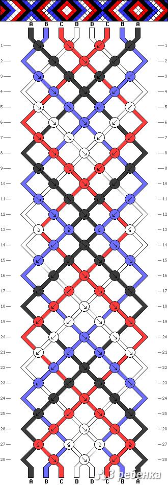 Схема фенечки 21350
