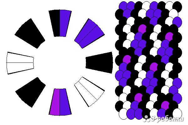 Схема фенечки кумихимо 21451