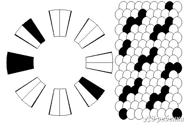 Схема фенечки кумихимо 21443