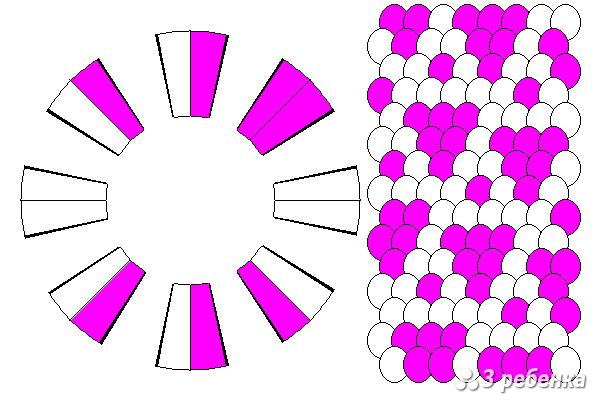 Схема фенечки кумихимо 21439